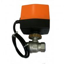 Кран двухходовой нержавеющий SMART QT330823S с электроприводом