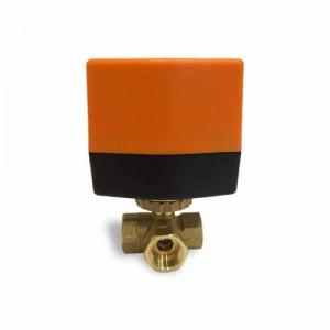 Кран шаровой трехходовой с электроприводом QT330832-L DN 15