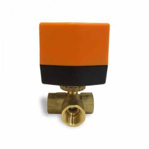 Кран шаровой трехходовой с электроприводом QT330833-L DN 20