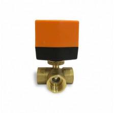 Кран шаровой трехходовой с электроприводом QT330834-L DN 25