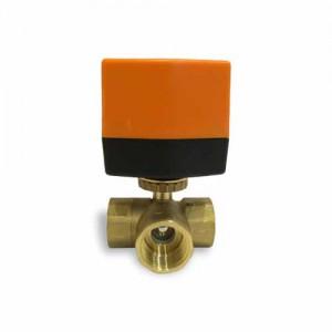 Кран шаровой трехходовой с электроприводом QT330834 DN 25