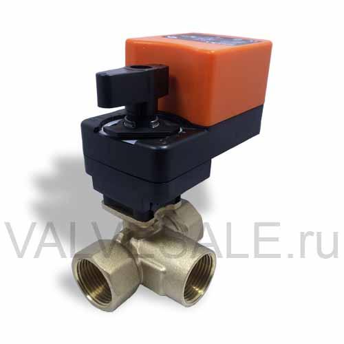 Трехходовой шаровый кран с электроприводом AC\DC24 SMART ...: http://valvesale.ru/taps/taps-three-way-QT7306/tap-QT730634