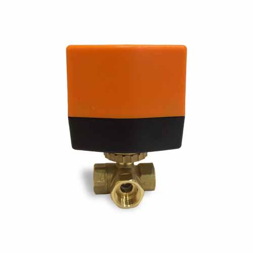 трехходовой шаровой кран с электроприводом