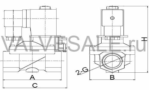 Схема электромагнитного клапана SMART SG5533