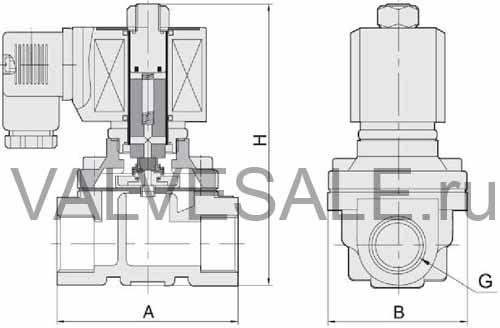 Схема электромагнитного клапана SMART SM5563s