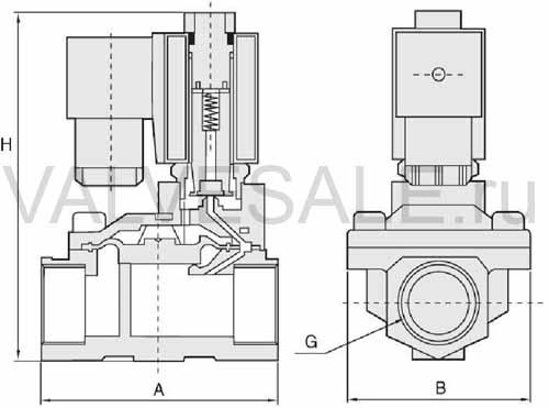 схема электромагнитного клапана для воды